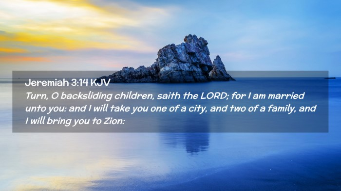 Picture 02 - Jeremiah 3:14 KJV Desktop Wallpaper - Turn, O backsliding children, saith the LORD; for - Desktop Bible Verse Wallpaper