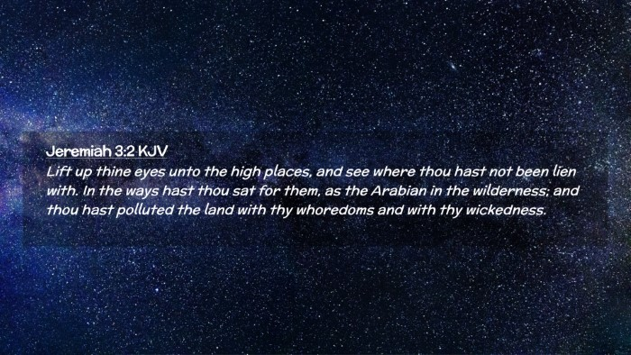 Picture 02 - Jeremiah 3:2 KJV Desktop Wallpaper - Lift up thine eyes unto the high places, and see - Desktop Bible Verse Wallpaper