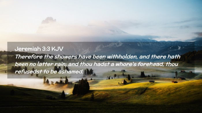 Picture 02 - Jeremiah 3:3 KJV Desktop Wallpaper - Therefore the showers have been withholden, and - Desktop Bible Verse Wallpaper