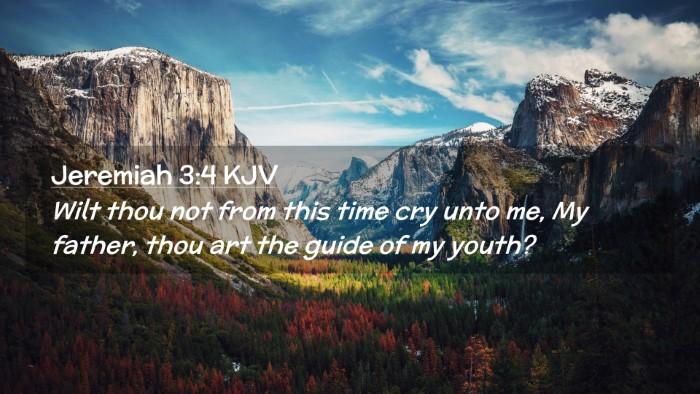 Picture 02 - Jeremiah 3:4 KJV Desktop Wallpaper - Wilt thou not from this time cry unto me, My - Desktop Bible Verse Wallpaper