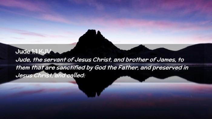Picture 02 - Jude 1:1 KJV Desktop Wallpaper - Jude, the servant of Jesus Christ, and brother of - Desktop Bible Verse Wallpaper