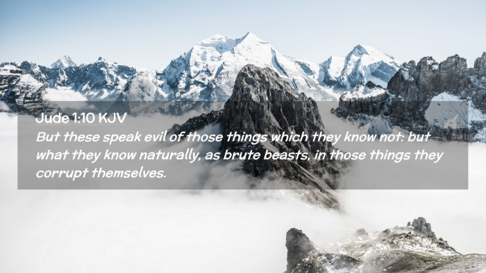 Picture 02 - Jude 1:10 KJV Desktop Wallpaper - But these speak evil of those things which they - Desktop Bible Verse Wallpaper
