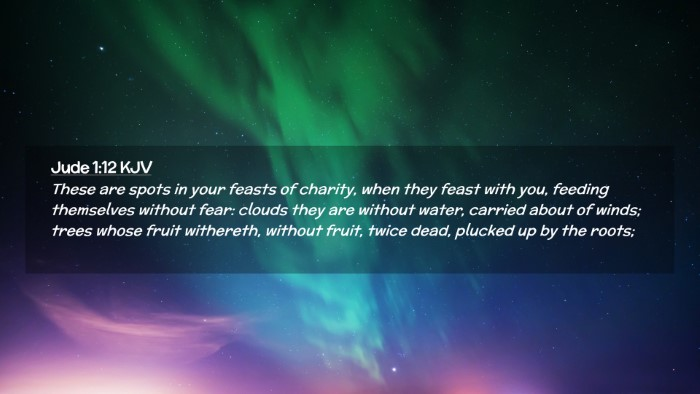 Picture 02 - Jude 1:12 KJV Desktop Wallpaper - These are spots in your feasts of charity, when - Desktop Bible Verse Wallpaper