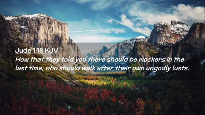 Picture 02 - Jude 1:18 KJV Desktop Wallpaper - How that they told you there should be mockers in - Desktop Bible Verse Wallpaper