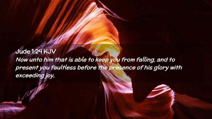 Picture 02 - Jude 1:24 KJV Desktop Wallpaper - Now unto him that is able to keep you from - Desktop Bible Verse Wallpaper