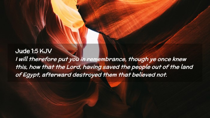 Picture 02 - Jude 1:5 KJV Desktop Wallpaper - I will therefore put you in remembrance, though - Desktop Bible Verse Wallpaper