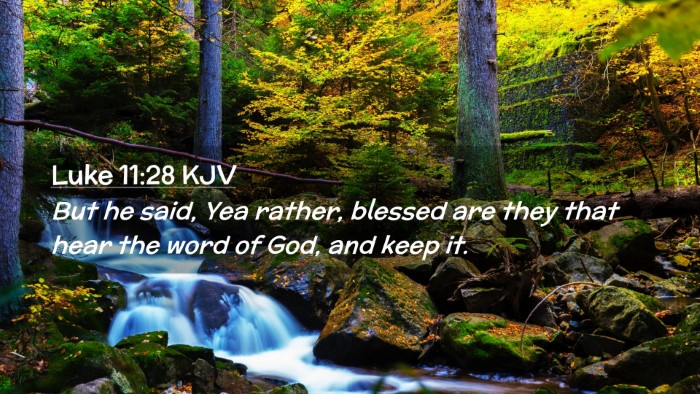Picture 02 - Luke 11:28 KJV Desktop Wallpaper - But he said, Yea rather, blessed are they that - Desktop Bible Verse Wallpaper