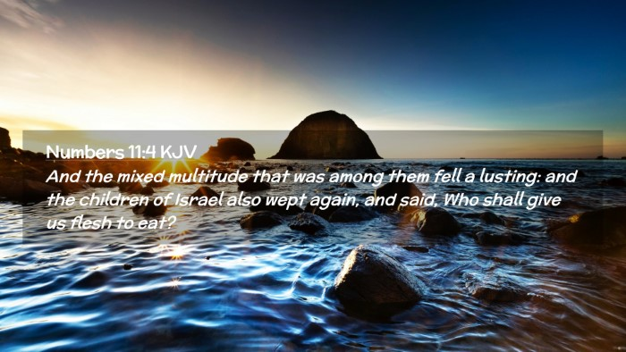 Picture 02 - Numbers 11:4 KJV Desktop Wallpaper - And the mixed multitude that was among them fell - Desktop Bible Verse Wallpaper