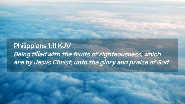 Picture 02 - Philippians 1:11 KJV Desktop Wallpaper - Being filled with the fruits of righteousness, - Desktop Bible Verse Wallpaper