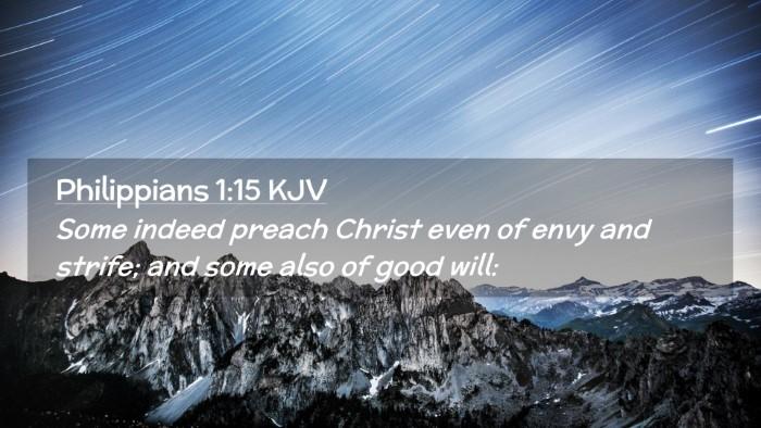 Picture 02 - Philippians 1:15 KJV Desktop Wallpaper - Some indeed preach Christ even of envy and - Desktop Bible Verse Wallpaper