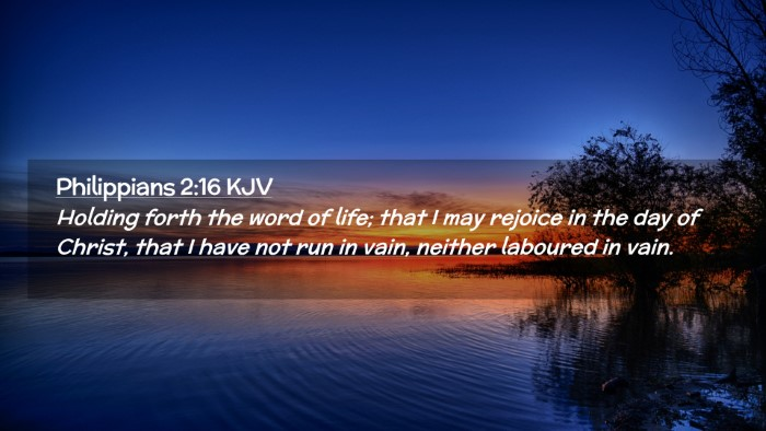 Picture 02 - Philippians 2:16 KJV Desktop Wallpaper - Holding forth the word of life; that I may - Desktop Bible Verse Wallpaper