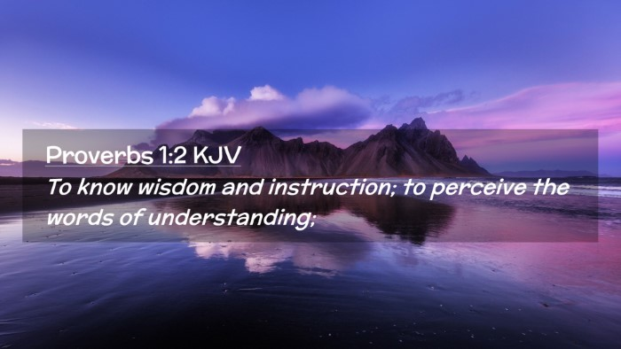 Picture 02 - Proverbs 1:2 KJV Desktop Wallpaper - To know wisdom and instruction; to perceive the - Desktop Bible Verse Wallpaper