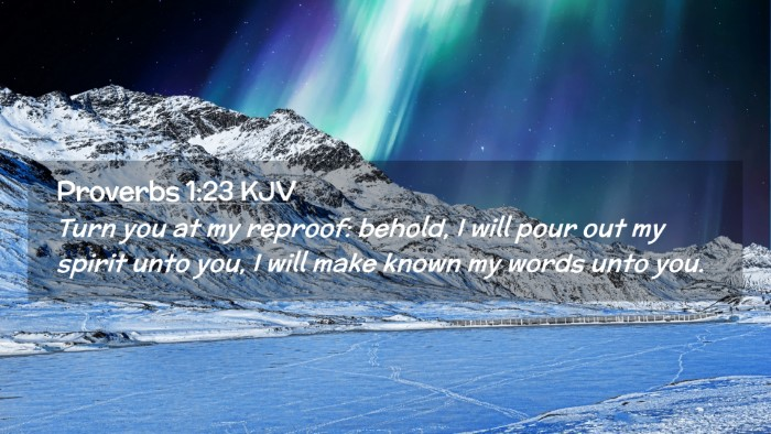Picture 02 - Proverbs 1:23 KJV Desktop Wallpaper - Turn you at my reproof: behold, I will pour out - Desktop Bible Verse Wallpaper