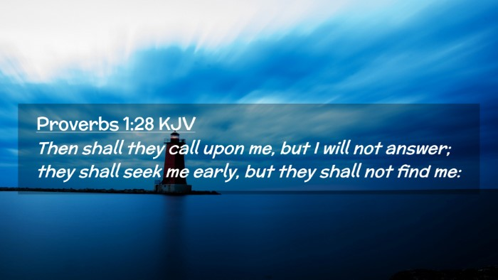 Picture 02 - Proverbs 1:28 KJV Desktop Wallpaper - Then shall they call upon me, but I will not - Desktop Bible Verse Wallpaper