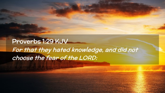 Picture 02 - Proverbs 1:29 KJV Desktop Wallpaper - For that they hated knowledge, and did not choose - Desktop Bible Verse Wallpaper