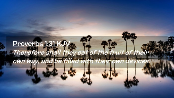 Picture 02 - Proverbs 1:31 KJV Desktop Wallpaper - Therefore shall they eat of the fruit of their - Desktop Bible Verse Wallpaper