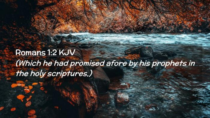 Picture 02 - Romans 1:2 KJV Desktop Wallpaper - (Which he had promised afore by his prophets in - Desktop Bible Verse Wallpaper