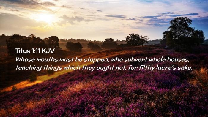 Picture 02 - Titus 1:11 KJV Desktop Wallpaper - Whose mouths must be stopped, who subvert whole - Desktop Bible Verse Wallpaper