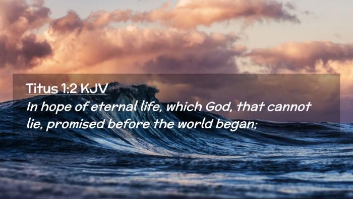 Picture 02 - Titus 1:2 KJV Desktop Wallpaper - In hope of eternal life, which God, that cannot - Desktop Bible Verse Wallpaper