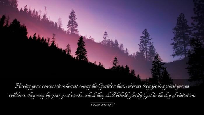 Picture 03 - 1 Peter 2:12 KJV Desktop Wallpaper - Having your conversation honest among the - Desktop Bible Verse Wallpaper