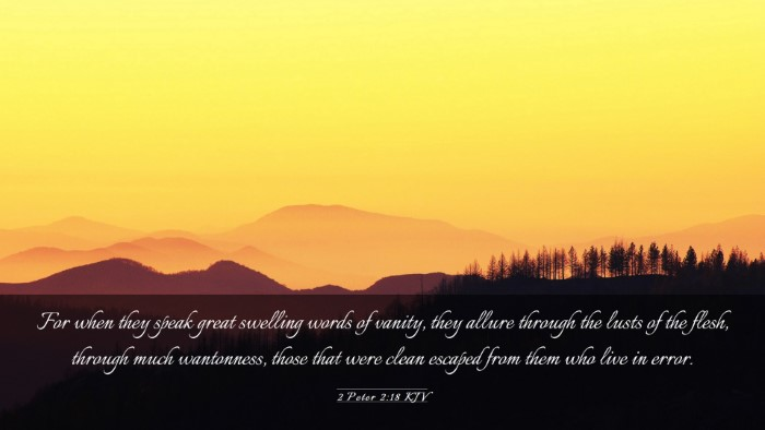 Picture 03 - 2 Peter 2:18 KJV Desktop Wallpaper - For when they speak great swelling words of - Desktop Bible Verse Wallpaper