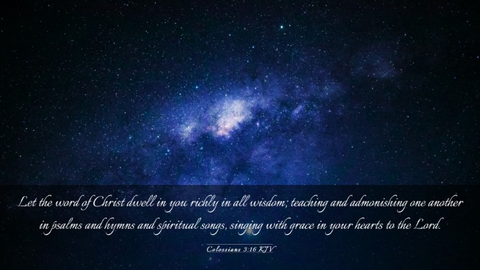 Picture 03 - Colossians 3:16 KJV Desktop Wallpaper - Let the word of Christ dwell in you richly in all - Desktop Bible Verse Wallpaper