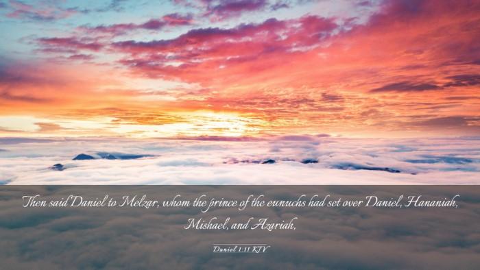 Picture 03 - Daniel 1:11 KJV Desktop Wallpaper - Then said Daniel to Melzar, whom the prince of - Desktop Bible Verse Wallpaper