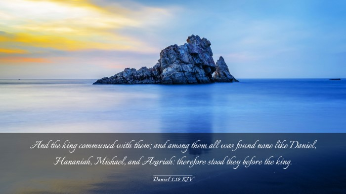 Picture 03 - Daniel 1:19 KJV Desktop Wallpaper - And the king communed with them; and among them - Desktop Bible Verse Wallpaper
