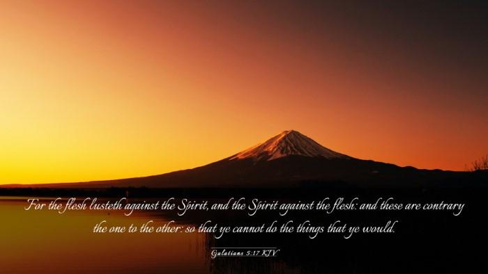 Picture 03 - Galatians 5:17 KJV Desktop Wallpaper - For the flesh lusteth against the Spirit, and the - Desktop Bible Verse Wallpaper