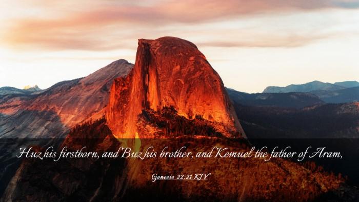Picture 03 - Genesis 22:21 KJV Desktop Wallpaper - Huz his firstborn, and Buz his brother, and - Desktop Bible Verse Wallpaper