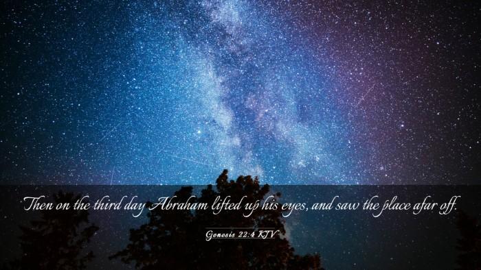 Picture 03 - Genesis 22:4 KJV Desktop Wallpaper - Then on the third day Abraham lifted up his eyes, - Desktop Bible Verse Wallpaper