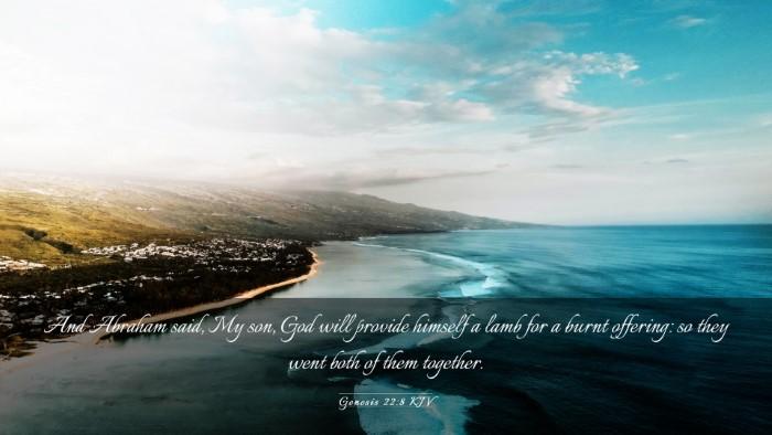 Picture 03 - Genesis 22:8 KJV Desktop Wallpaper - And Abraham said, My son, God will provide - Desktop Bible Verse Wallpaper