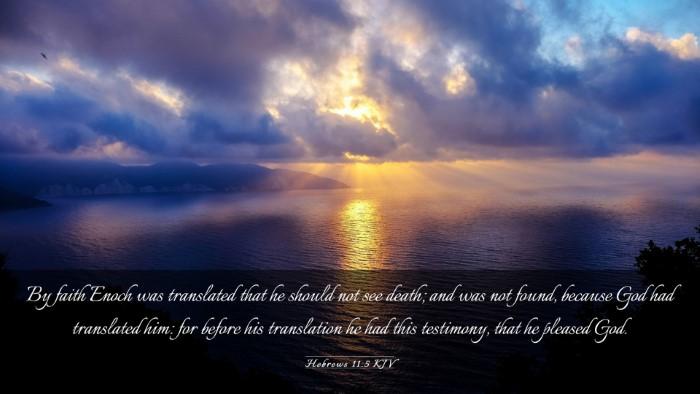 Picture 03 - Hebrews 11:5 KJV Desktop Wallpaper - By faith Enoch was translated that he should not - Desktop Bible Verse Wallpaper