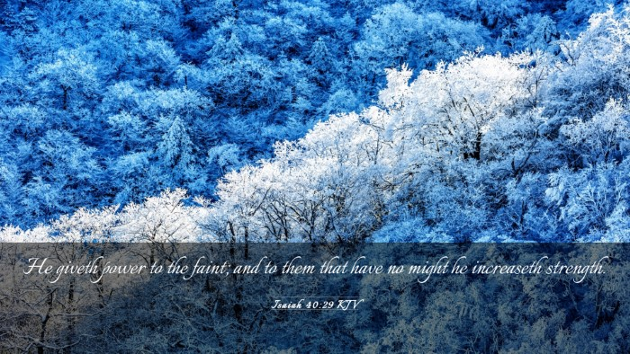 Picture 03 - Isaiah 40:29 KJV Desktop Wallpaper - He giveth power to the faint; and to them that - Desktop Bible Verse Wallpaper