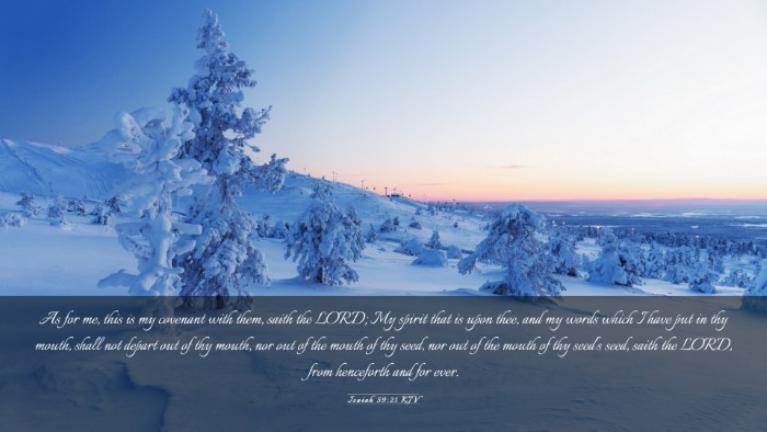 Picture 03 - Isaiah 59:21 KJV Desktop Wallpaper - As for me, this is my covenant with them, saith - Desktop Bible Verse Wallpaper