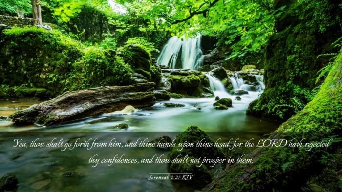 Picture 03 - Jeremiah 2:37 KJV Desktop Wallpaper - Yea, thou shalt go forth from him, and thine - Desktop Bible Verse Wallpaper