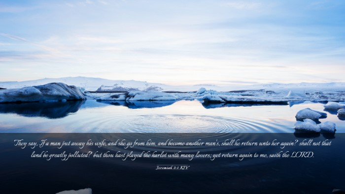 Picture 03 - Jeremiah 3:1 KJV Desktop Wallpaper - They say, If a man put away his wife, and she go - Desktop Bible Verse Wallpaper