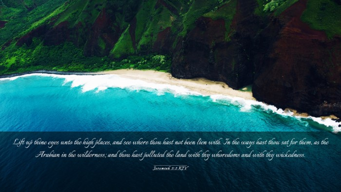 Picture 03 - Jeremiah 3:2 KJV Desktop Wallpaper - Lift up thine eyes unto the high places, and see - Desktop Bible Verse Wallpaper