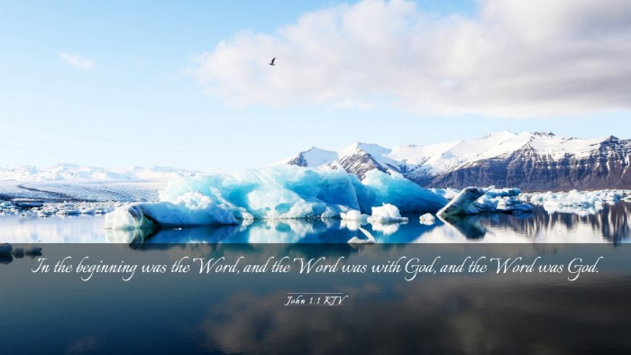 Picture 03 - John 1:1 KJV Desktop Wallpaper - In the beginning was the Word, and the Word was - Desktop Bible Verse Wallpaper