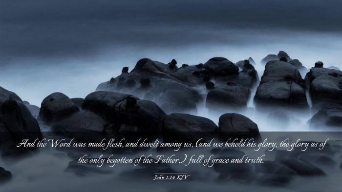 Picture 03 - John 1:14 KJV Desktop Wallpaper - And the Word was made flesh, and dwelt among us, - Desktop Bible Verse Wallpaper
