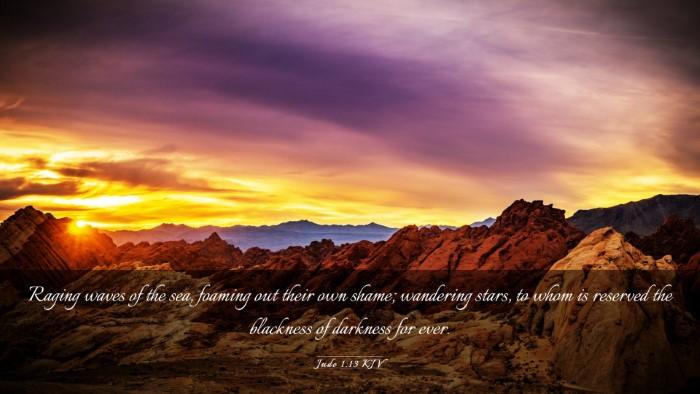 Picture 03 - Jude 1:13 KJV Desktop Wallpaper - Raging waves of the sea, foaming out their own - Desktop Bible Verse Wallpaper