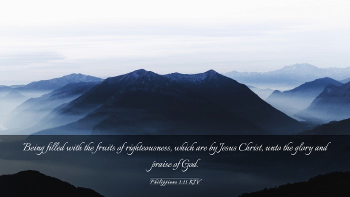 Picture 03 - Philippians 1:11 KJV Desktop Wallpaper - Being filled with the fruits of righteousness, - Desktop Bible Verse Wallpaper