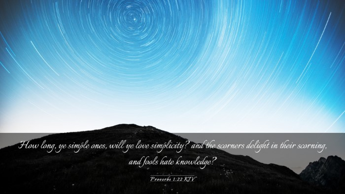 Picture 03 - Proverbs 1:22 KJV Desktop Wallpaper - How long, ye simple ones, will ye love - Desktop Bible Verse Wallpaper