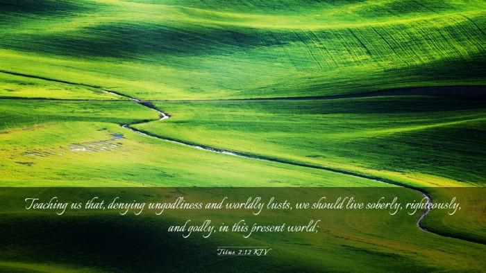 Picture 03 - Titus 2:12 KJV Desktop Wallpaper - Teaching us that, denying ungodliness and worldly - Desktop Bible Verse Wallpaper