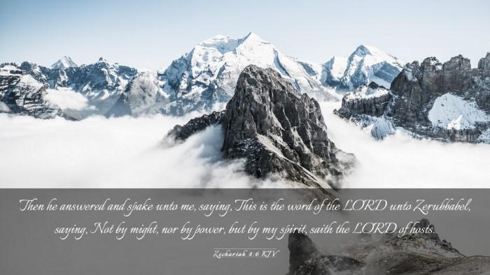 Picture 03 - Zechariah 4:6 KJV Desktop Wallpaper - Then he answered and spake unto me, saying, This - Desktop Bible Verse Wallpaper