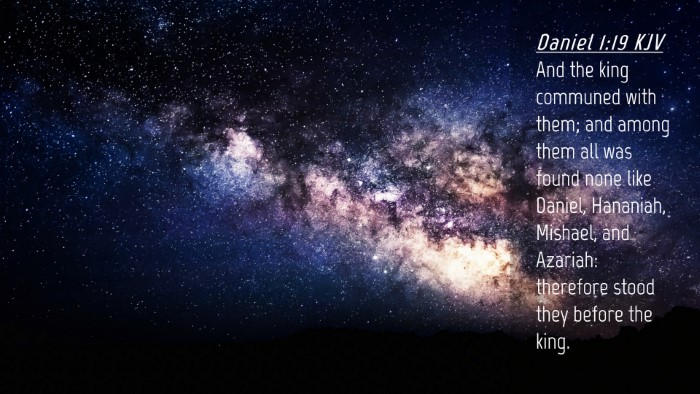 Picture 04 - Daniel 1:19 KJV Desktop Wallpaper - And the king communed with them; and among them - Desktop Bible Verse Wallpaper