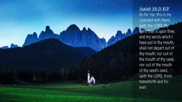 Picture 04 - Isaiah 59:21 KJV Desktop Wallpaper - As for me, this is my covenant with them, saith - Desktop Bible Verse Wallpaper