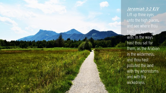 Picture 04 - Jeremiah 3:2 KJV Desktop Wallpaper - Lift up thine eyes unto the high places, and see - Desktop Bible Verse Wallpaper
