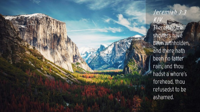 Picture 04 - Jeremiah 3:3 KJV Desktop Wallpaper - Therefore the showers have been withholden, and - Desktop Bible Verse Wallpaper