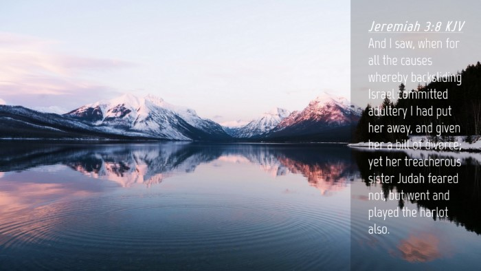 Picture 04 - Jeremiah 3:8 KJV Desktop Wallpaper - And I saw, when for all the causes whereby - Desktop Bible Verse Wallpaper
